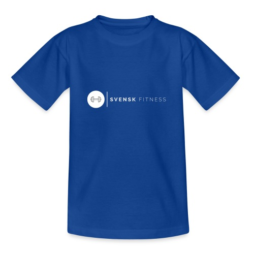 Vit vertikal logo dam - T-shirt tonåring