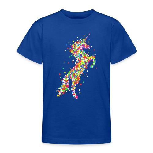 Konfetti Einhorn - Teenager T-Shirt