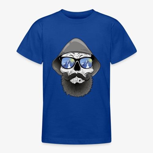 Totenkopf mit sonnenbrille und hut - Teenager T-Shirt