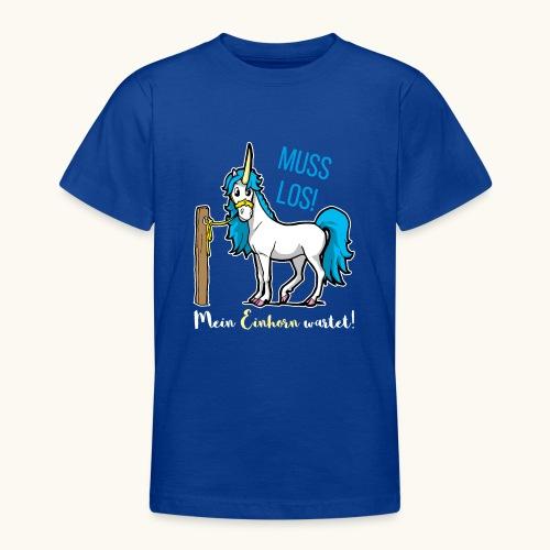 Dessin drôle de licorne disant bande dessinée cadeau - T-shirt Ado