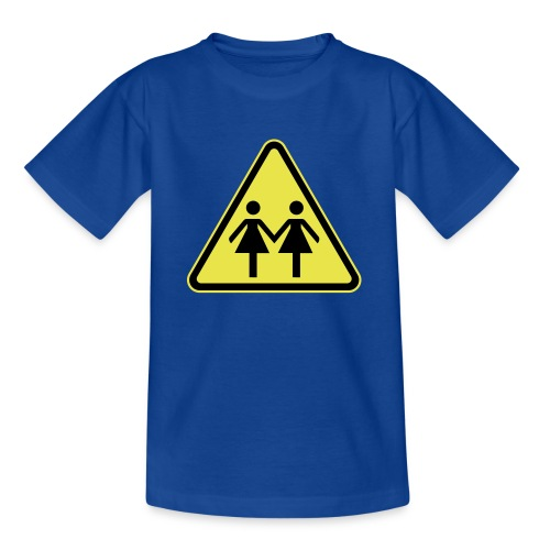 ACHTUNG LESBEN POWER! Motiv für lesbische Frauen - Teenager T-Shirt