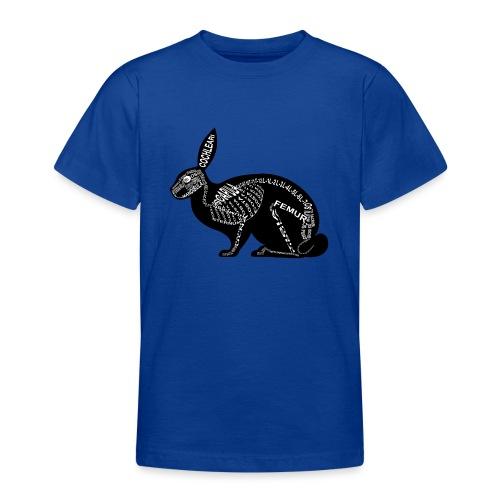 Hasen-Skelett - Teenager T-Shirt