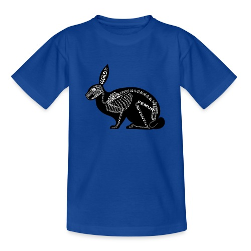 konijn skelet - Teenager T-shirt