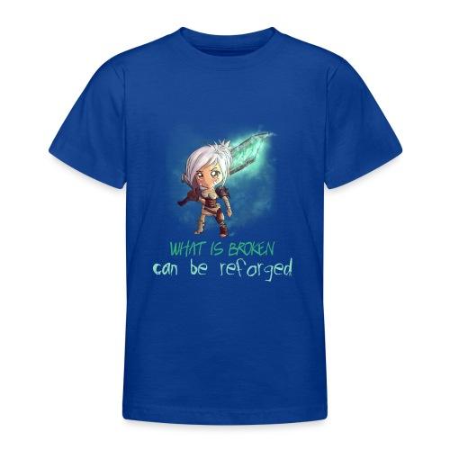Chibi Riven con scritta DONNA - Maglietta per ragazzi