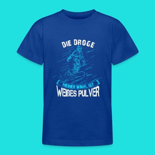 Droge snowboarden - Teenager T-Shirt