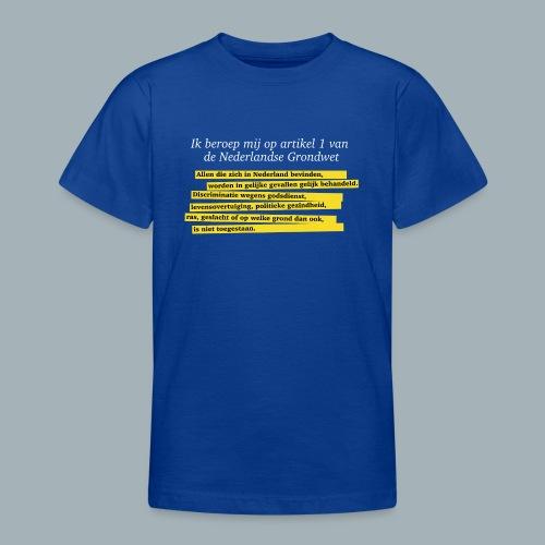 Nederlandse Grondwet T-Shirt - Artikel 1 - Teenager T-shirt