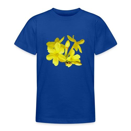 Winterjasmin Jasmin gelb Duft Zierpflanze Strauch - Teenager T-Shirt