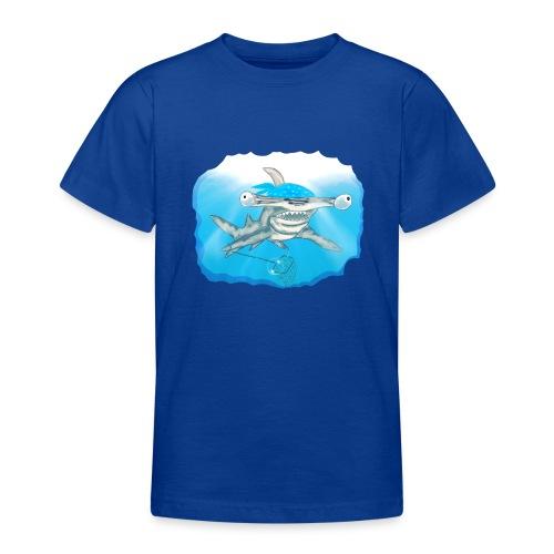 Hunting hammer fish design print - Teenage T-Shirt