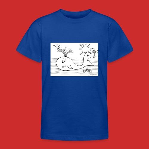 disegno_balenotta_da_colorare-jpg - Maglietta per ragazzi