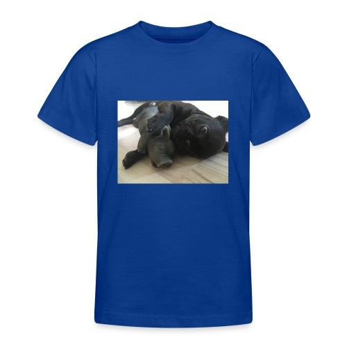 kuschelnder Hund - Teenager T-Shirt