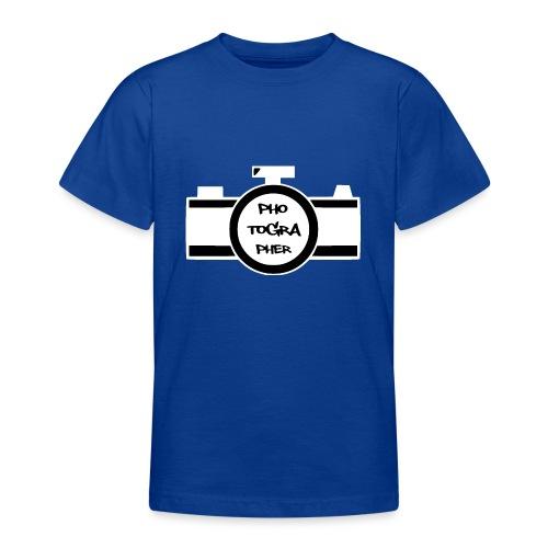 Photographer weiß - Teenager T-Shirt