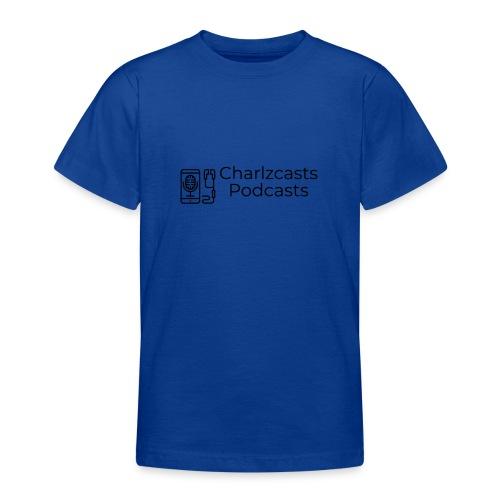 Charlzcast Podcast Logo Black - Teenage T-Shirt