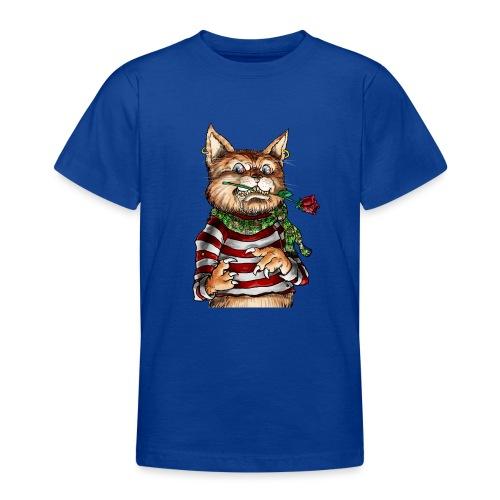 T-shirt - Crazy Cat - T-shirt Ado
