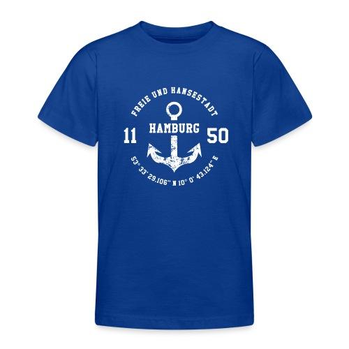 Freie und Hansestadt Hamburg 1150 weiss - Teenager T-Shirt