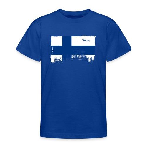 Suomen lippu, Finnish flag T-shirts 151 Products - Nuorten t-paita