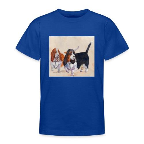 Basset hound_double-trot - Teenager-T-shirt