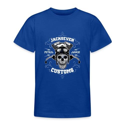 Chopper Bobber Motorrad Rocker Skull Totenkopf - Teenager T-Shirt
