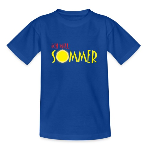 Ich will Sommer - Teenager T-Shirt