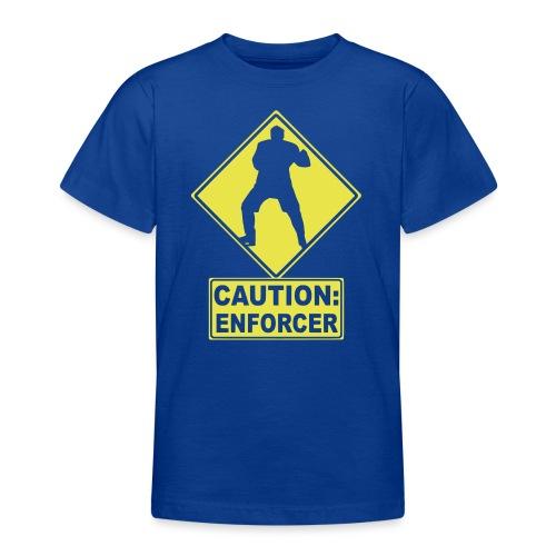 CAUTION: Hockey Enforcer - Teenage T-Shirt
