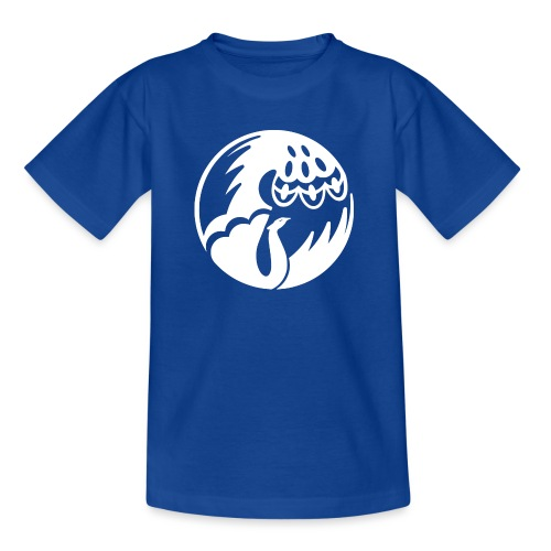 Pfau weiss - Teenager T-Shirt