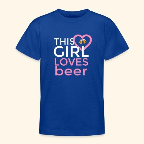 Ragazza birra - Maglietta per ragazzi