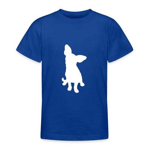 Chihuahua istuva valkoinen - Nuorten t-paita