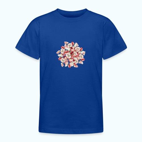 Hippie Aquarell Blumen - Teenage T-Shirt