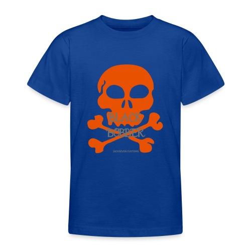Black Bobber - Chopper Skull Totenkopf -Jackseven - Teenager T-Shirt