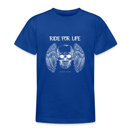 ride for life skull - Chopper - Bobber - Skull - Teenager T-Shirt