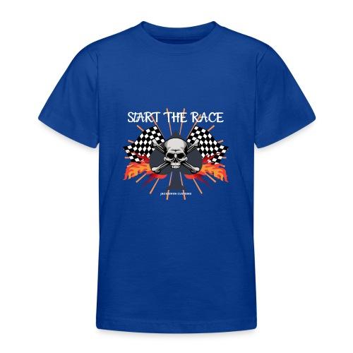start the race, biker, bobber, skull, motorrad, HD - Teenager T-Shirt
