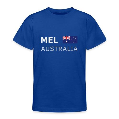 MEL AUSTRALIA white-lettered 400 dpi - Teenage T-Shirt