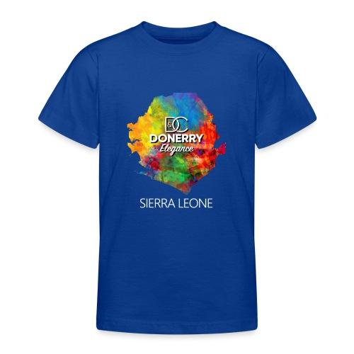Sierra Leone Colourful Map Dark - Teenage T-Shirt