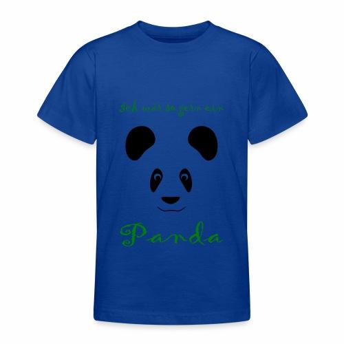 Ich wär so gern ein Panda - Teenage T-Shirt