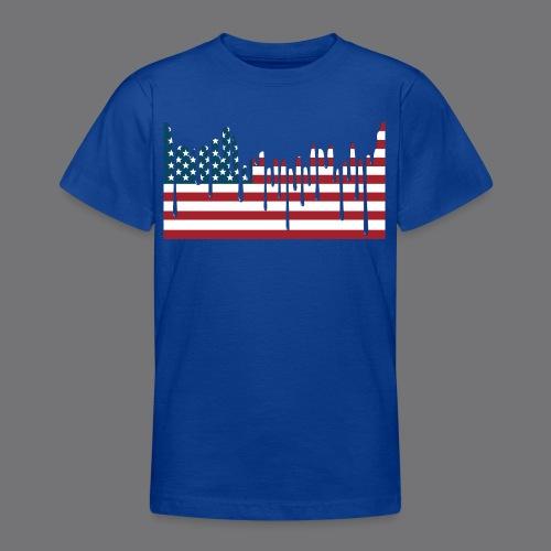 USA FLAG Tee Shirts - Teenage T-Shirt