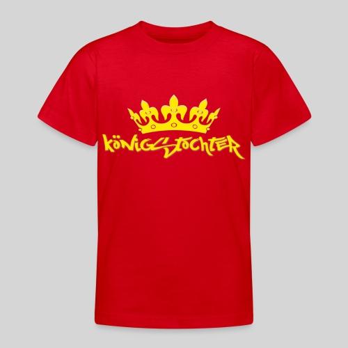 Königstochter m. Krone über der stylischen Schrift - Teenager T-Shirt