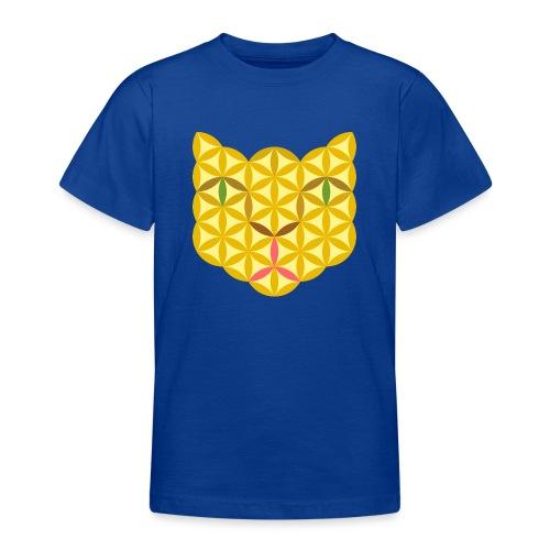The Cat Of Life - Sacred Animals, B04, Yellow. - Teenage T-Shirt