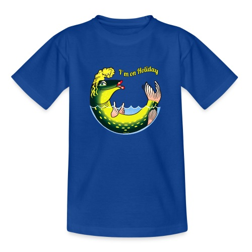 LADY FISH HOLIDAY - Haukileidi lomailee tekstiilit - Nuorten t-paita