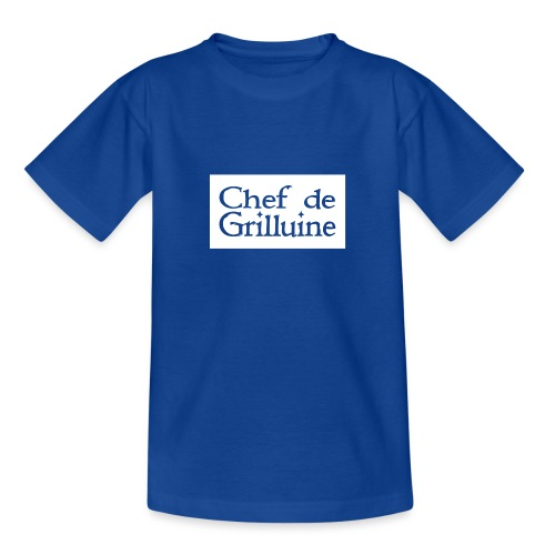 Chef de Grilluine - der Chef am Grill - Teenager T-Shirt