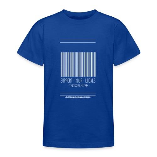 STEUN JE PLAATSELIJKE [WIT] - Teenager T-shirt