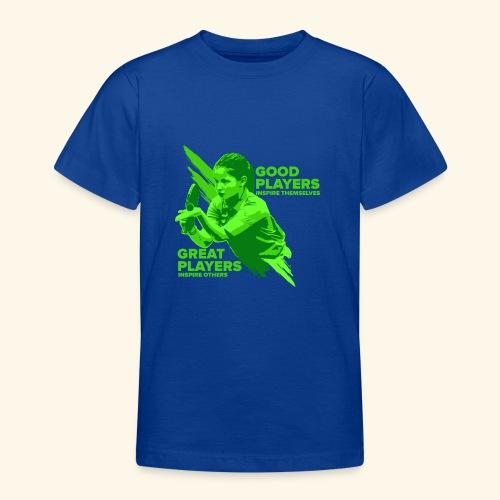 Tischtennis Mädchendesign Konzetration - Teenager T-Shirt