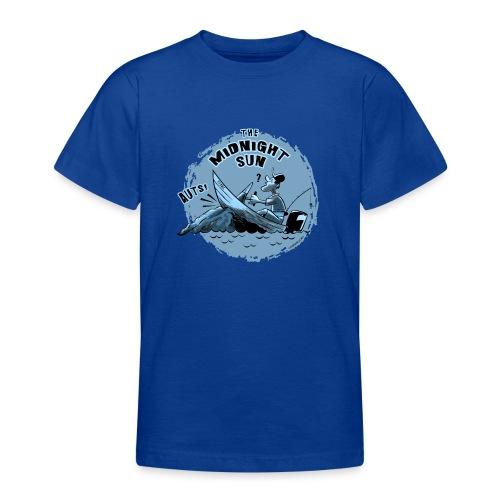 MIDNIGHT SUN, FUNNY FISHING TEXTILES, GIFTS - Nuorten t-paita