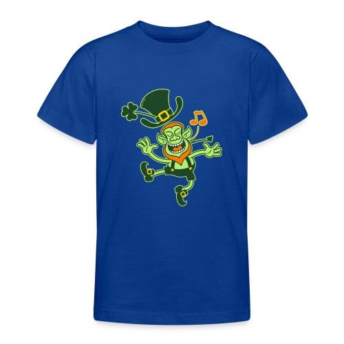 Leprechaun Dancing and Singing - Teenage T-Shirt