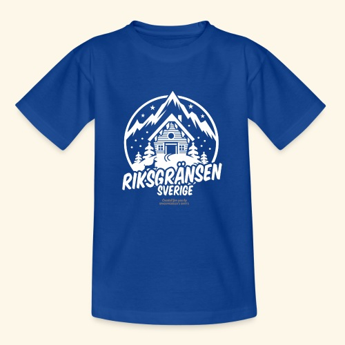 Riksgränsen Sverige Ski Resort T Shirt Design - Teenager T-Shirt