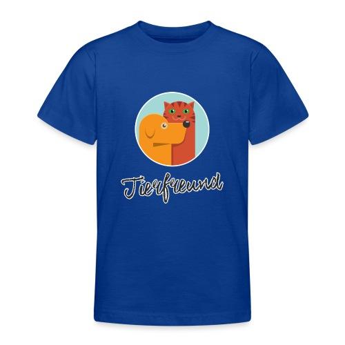 Tierfreund mit Schriftzug - Teenager T-Shirt