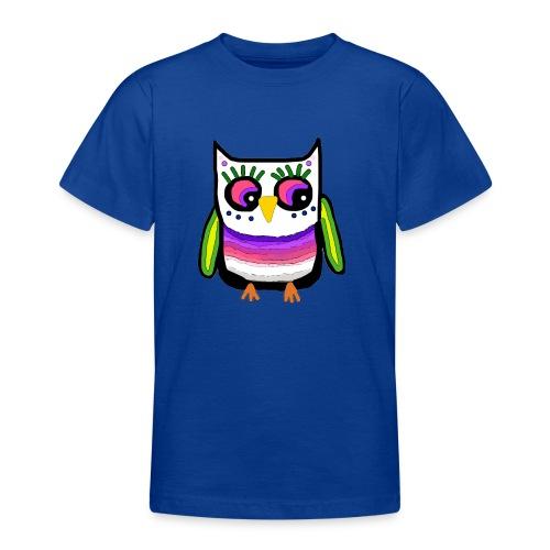 Colorful owl - Teenage T-Shirt
