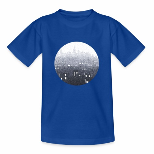 city hall snow blue - T-shirt Ado
