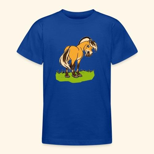 Freundliches Fjordpferd (Ohne Text) Weisse Umrisse - T-shirt Ado