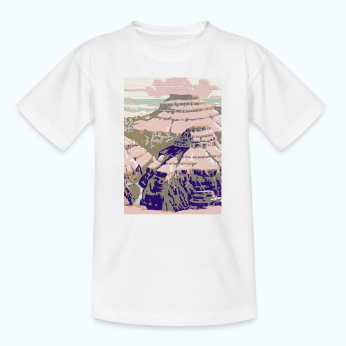 Rocky Mountains Vintage Travel Poster - Teenage T-Shirt