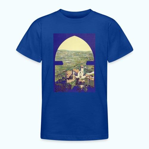 Tuscany vintage travel poster - Teenage T-Shirt