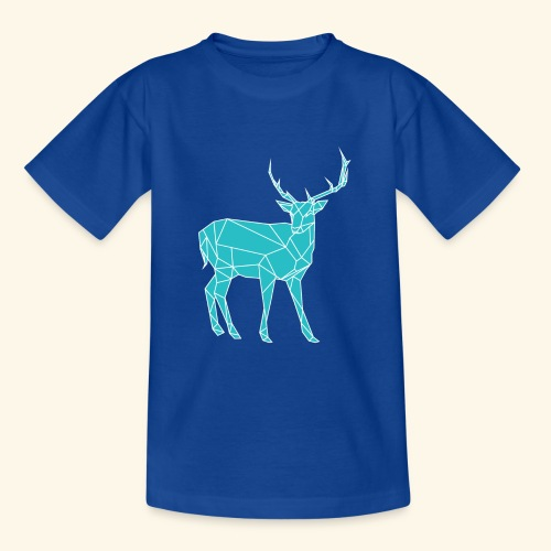 Blue Reindeer - Teenage T-Shirt